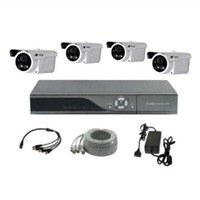 CCTV Kits with 4pcs Outdoor Day/Night Vision Cameras and 1pc D1 Resolution DVR