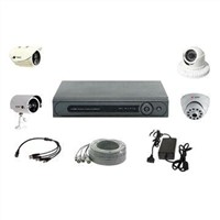 CCTV System with 4 Cameras and 1DVR Including Cables and Power Adapter