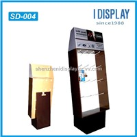 Cardboard Corrugated advertising display stand for power bank mobile charger