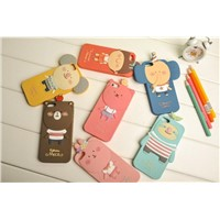 Cartoon animal protection case for iphone 4/4 s silicone mobile phone case