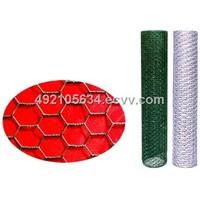Chicken wire mesh, galvanized or PVC-coated, hexagonal mesh opening, for poultry farm use