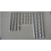 Concrete Steel Nail, Galvanized or Black Surface, Made of Hardened Steel, Twill, Plain, Spiral Shan
