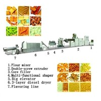 Core-filling extrusion snack foood process line
