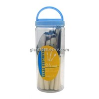 European Market Elegant Plastic Handle Cutlery Set