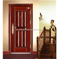 Exports of high standard security steel door(WNT-ST418)