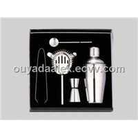 FGB,FDA stainless steel cocktail shaker set for promotion gift
