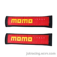 FOR MOMO SEAT BELT COVER RED AND BLACK J1 STYLE