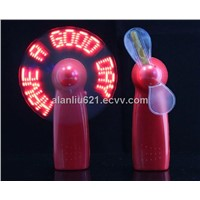 Flashing led mini fan with your logo and cheap price