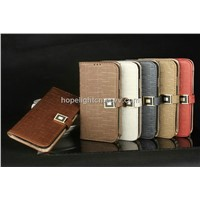 Flip PU leather cover for Samsung Galaxy S4/i9500 mobile phone accessories