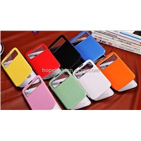 for Samsung s4 Flip Window Case Leather Flip Case for Galaxy s4 i9500