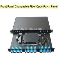 Front Panel Changeable Fiber Optic Patch Panel