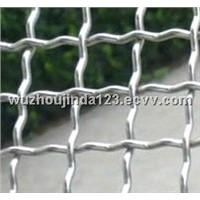Galvanized crimped square wire netting