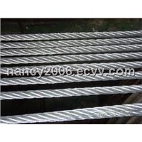 Galvanized guy rope for electric cable, China wire rope factory, manufacturer, supplier