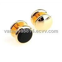 Gold-plated Black Jewelry Studs