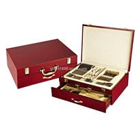 High Quality 72pcs Cutlery Set with Wooden Case