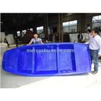 High quality LLDPE rotomolding plastic fishing boat for sale