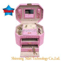 Hot Selling Cheap Storage Jewelry Carrying Case With Mirror