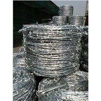 Hot dipped galvanized barbed wire, 70g/m2 zinc coated security galvanized barbed wire