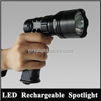 Hunting spotlight kit 10w cree led torch Rechargeable Hunting searchlights 12v portable spotlight