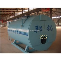 Industrial gas and oil fired boiler