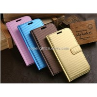 Knitting PU flip cover for Samsung S4 / i9500 mobile phone accessories