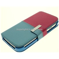 Korea Fashion Contrast Color PU Case for Samsung Galaxy S4/i9500