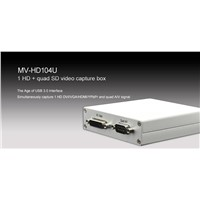 MV-HD104U 1HD & Quad SD Video Capture Box-USB3.0 Output