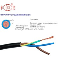 Made in china electric wire cable flexible copper wire 3 core 1.5mm2