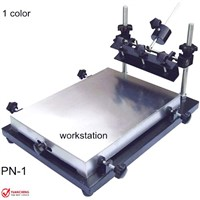 Manual Printer - 1 Color - Print Flat Substrate - Screen Print Machine - QA