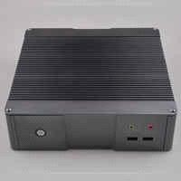 Metal Aluminum MINI-ITX Chassis for HTPC, DC-ATX Convertor , Power Adaptor.