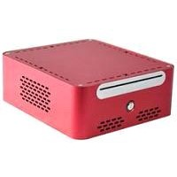 Metal Aluminum MINI-ITX Chassis for HTPC, DC-ATX convertor 90W,12V5A Adaptor. DVD Bay.