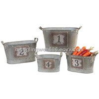 Metal storage baskets,set of 4