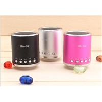 Mini card speaker Fm radio band color light-emitting speakers
