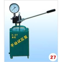 Model S-SY series Simplex manual hydraulic test pump
