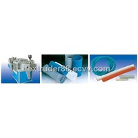 Multi-purpose steel wire reinforced plastic pipe extrusion line