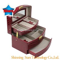 New Design Leather Cosmetic Packaging Box