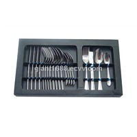 New Design 24 Pcs Stainless Steel Cutlery Set with Paper Box