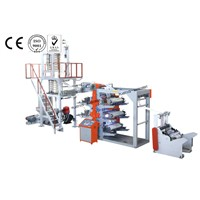 PE BLOWN FLEXOGRAPHIC PRINTING LINE MACHINE-GD-45CY-J
