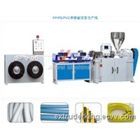 PE/ PP/PVC Single Wall Corrugated Pipe Production Line