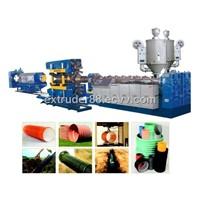 PE/PVC Large Dia. Double-Wall Corrugated Pipe Extrusion Line
