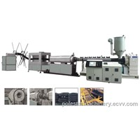 Plastic PE carbon spiral reinforcing pipe extrusion line