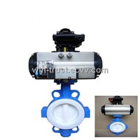 Pneumatic Actuator A Type Corrosion Resistant Butterfly Valve