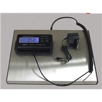 Postal scale with a high precision strain gauge sensor system