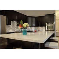 Quartz Stone Kitchen Countertop And Island Top
