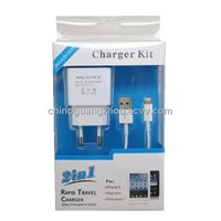 Rapid travel charger 2in1(charger kit)