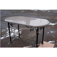 Restaurant Table Top And Artificial Stone Quartz Dining Table Top