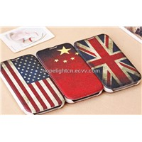 Samsung S4 Flip Cover with National Flag Design, UK,USA,CHINA Flag Design