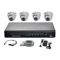 Security System with 4CH 3G DVR and 4pcs IR Cameras