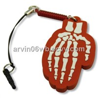 Skeleton Hand Pendant and Dust-proof Plug
