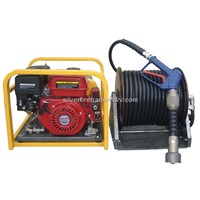 Slip-on water mist fire fighting equipment